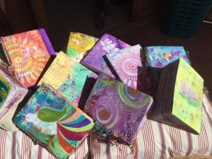 Hand painted notebooks