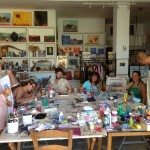 In Steffi Goddard's art studio