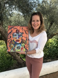 First time painter Giovanna and her goddess
