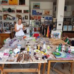 This is Steffi Goddard in her studio
